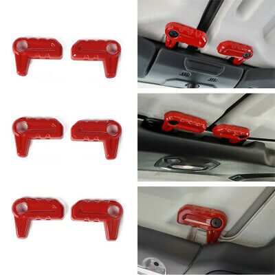$27.50 • Buy Car Roof Removal Switch Knob Cover Trim Decor Red For Jeep Wrangler JL JT 2018+