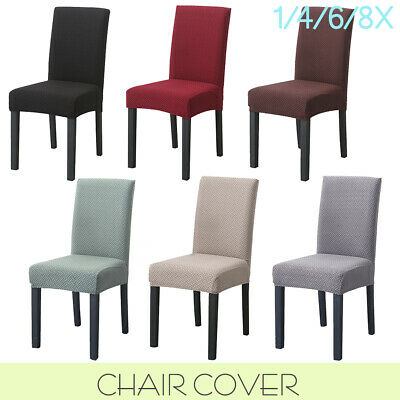 AU6.99 • Buy Premium Dining Chair Covers Spandex Jacquard SlipCover Wedding Banquet Party