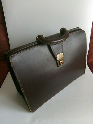 £45 • Buy DOLPHIN ENGLISH LEATHERGOODS Briefcase Vintage CHENEY Collectable 1970 Excellent