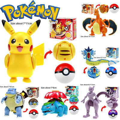 £13.49 • Buy Pokeball Ball Transformation Toy Kids Action Figure For Pokemon Deformation Gift