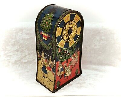 £239.99 • Buy Lucky Spin-Figural Christmas Vintage/Antique Biscuit Tin/Toy-Jacob & Co-1929