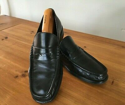 £20 • Buy Russell & Bromley Moreschi Black Classic Penny Loafers Mens' Size UK 7.5