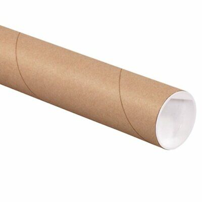 $63.94 • Buy Aviditi Kraft Mailing Tubes With Caps 2 1/2  X 18  Pack Of 34 For Shipping St...