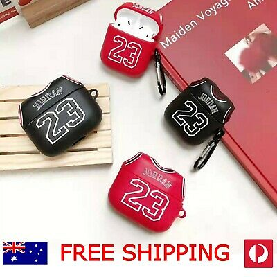 AU100 • Buy Airpods Case 1&2 + Pro, Jordan Design, Red/Back, Cool Funny Sporty, Protective