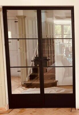 £1600 • Buy Double Steel Doors (CRITTALL STYLE)W1385 H2075 Lever Handle With Lock!