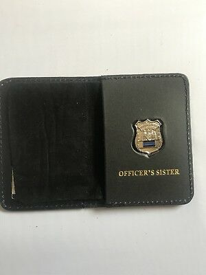 £15.97 • Buy Police Officer  Thin Blue Line Mini PIN  Leather ID Wallet - (Sister) 1INCH