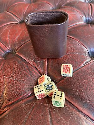 £10 • Buy Vintage Poker Dice With Shaker