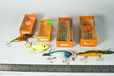 $ CDN14.48 • Buy Vintage Bomber Bait Company Antique FIshing Lure Lot In Boxes RC6