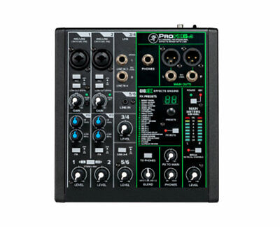 $134.99 • Buy Mackie ProFX6 V3 6 Channel Professional Effects Mixer With USB - B-Stock