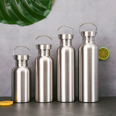 AU17.94 • Buy 500/750/1000ml Stainless Steel Water Bottle Insulated Sports Drink Cup Flask NEW