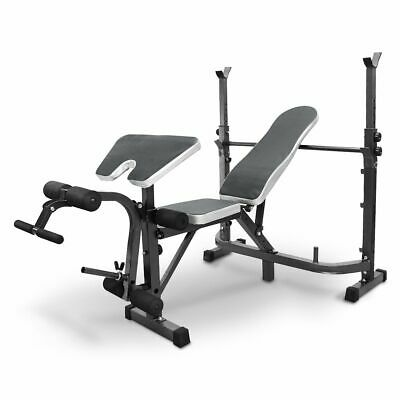 £115 • Buy Olympic Weight Bench Press Adjustable Incline Fitness Multi Home Gym Bicep Curl