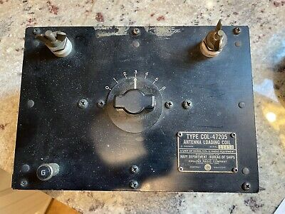 $159 • Buy Collins TCS-12 Military Transmitter Antenna Loading Coil COL-47205 WWII US Navy
