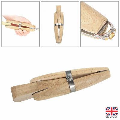 £9.34 • Buy Wooden Wood Ring Clamp With Wedge Jewellery Craft Tool Cleaning Polishing Tools