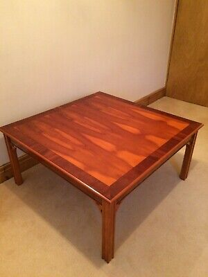 £140 • Buy Coffee Table. Square Chippendale reproduction Style Yew Wood Veneer.