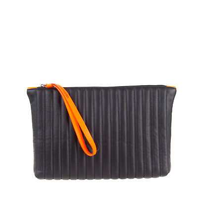 AU74.72 • Buy RRP €310 ALEXANDER McQUEEN Leather Wristlet Clutch Bag Quilted Made In Italy
