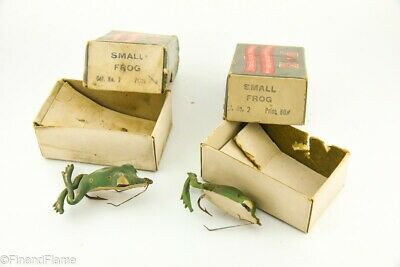 $ CDN17.71 • Buy Vintage Group Lot Of 2 P&K Antique Frog Fishing Lures In Boxes LC6