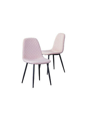 AU120 • Buy 2x Pink Velvet Guest Chair Dinning Chair Charcoal Metal Legs For Home Office