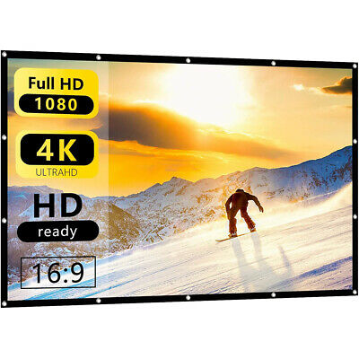 AU23.99 • Buy Portable Foldable Projector Screen 16:9 HD Outdoor Home Cinema Theater 3D Movie