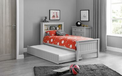 £349.99 • Buy Maine Bookcase Bed Frame And Underbed Option 3ft Single Grey Lacquered Finish