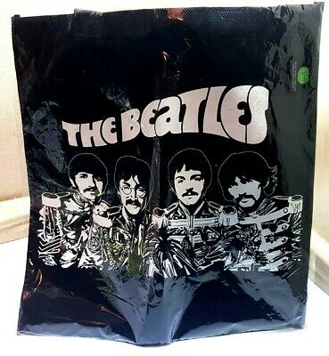 £9.95 • Buy The Beatles Sgt Pepper Band Black Eco Tote Bag Brand New Apple Corps 2011