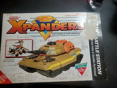 $65 • Buy Tank Battle Station Military Vehicle Xpanders 1989 Galoob Action Figure In Box