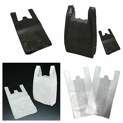 £6.99 • Buy 100 Plastic Carrier Bags Strong Vest Shopping Supermarket Takeaway [all Size]