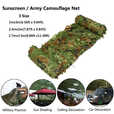 £11.19 • Buy Shooting Hide Army Camouflage Net Hunting Camo Netting Woodland Shelter   # +