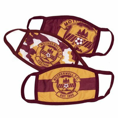 £9.99 • Buy Motherwell Fc Face Masks X 3