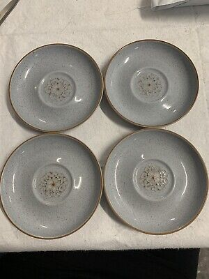 £9.99 • Buy DENBY REFLECTIONS SAUCERS BLUE X 4 No Chips