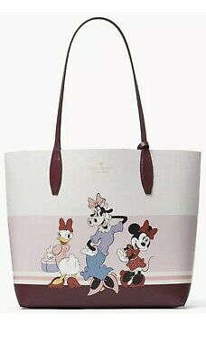 $ CDN197.91 • Buy Kate Spade Disney Clarabelle Minnie Mouse Daisy Reversible Tote Bag Pouch $379