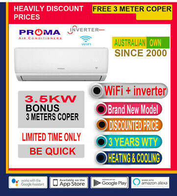 AU595 • Buy Split System Reverse Cycle Air Conditioner Heating And Cooling, Wifi, Inverter