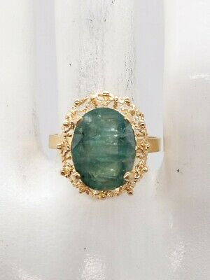 £104.35 • Buy Antique 1940s $6000 7ct Colombian Emerald 14k Yellow Gold Ring