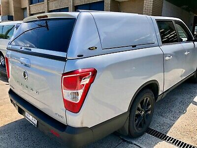 AU4000 • Buy FORCE PRO PLUS Canopy For SsangYong Musso XLV (Long Tub) 2018+ Silky White #WAK
