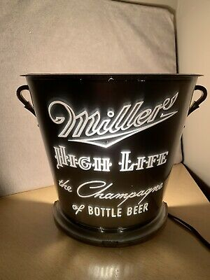 $69 • Buy Miller High Life Motion Light The Champagne Of Beer Bucket Sign