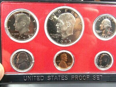 AU29 • Buy 1973 S United States Of America 6 Proof Coins  In Case Set .