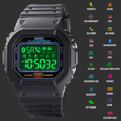 AU43.99 • Buy Men's Smart Watch Pedometer Fitness Activity Tracker Waterproof For IOS Android