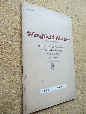 £2 • Buy Vintage Booklet WINGFIELD MANOR History Associations Etc Mary Queen Of Scots