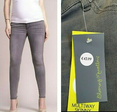 £14.99 • Buy MOTHERCARE Maternity Skinny Jeans Women's Grey Over The Bump Pregnancy BNWT