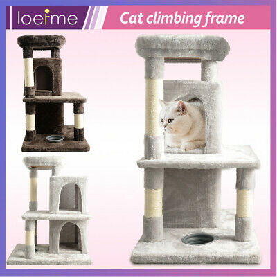 £29.88 • Buy Cat Play Activity Tree 2 House Perch Scratching Post Climbing Tower Kittten Toys