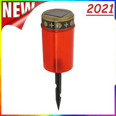 £5.78 • Buy Solar Power Grave Lawn Light Flameless Electronic LED Candle Lamp (Red)