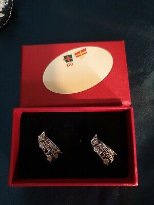 £4 • Buy 1990s Novelty Vintage Fire Engine Cufflinks Boxed Unused Great Condition