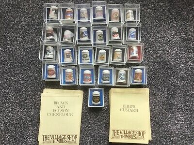 £10 • Buy Set Of 25 Advertising Thimbles All Boxed With Descriptive Sheet For Each