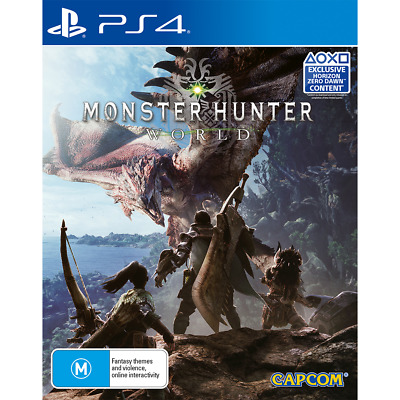 AU18 • Buy Monster Hunter World Preowned - PlayStation 4 - PREOWNED