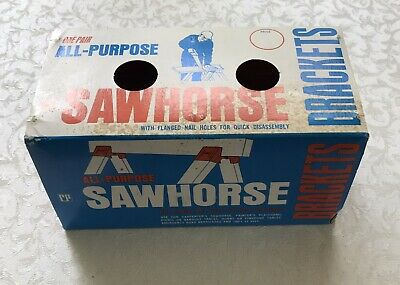AU13.30 • Buy Vintage Saw Horse All Purpose Brackets Hardware Crawford Products Made In USA
