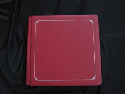 £14.51 • Buy Creative Memories 12 X 12 Dark Red Album BIG Book With Pages Gold Trim