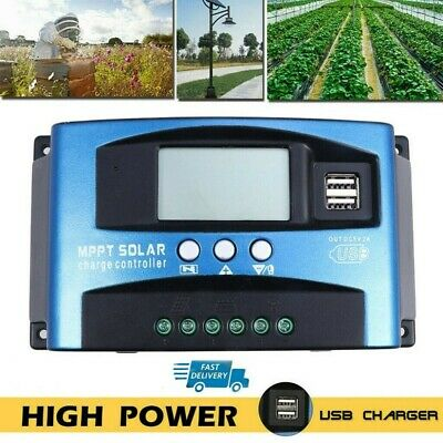 £14.99 • Buy MPPT Solar Charge Controller 40A Ultra Fast Power Point Auto Focus Tracking