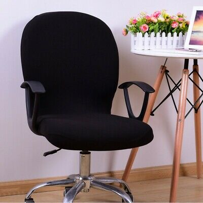 AU13.01 • Buy Home Office Computer Chair Cover Spandex Stretch Elastic Swivel Rotate Seats Mat
