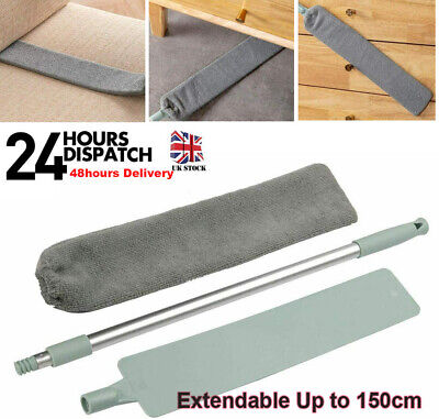 £6.99 • Buy Extendable Flat Microfibre Floor Mop Gap Duster With Long Handle For Bed Sofa