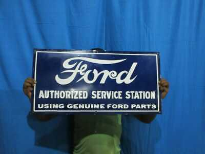$ CDN125.87 • Buy Porcelain Ford Authorized Service Station Enamel Sign Size 15  X 20  Inches