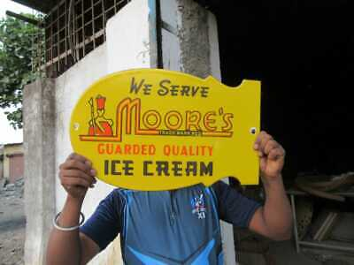 $ CDN125.87 • Buy Porcelain Moore's Ice Cream Enamel Sign Size 19  X 12  Inches
